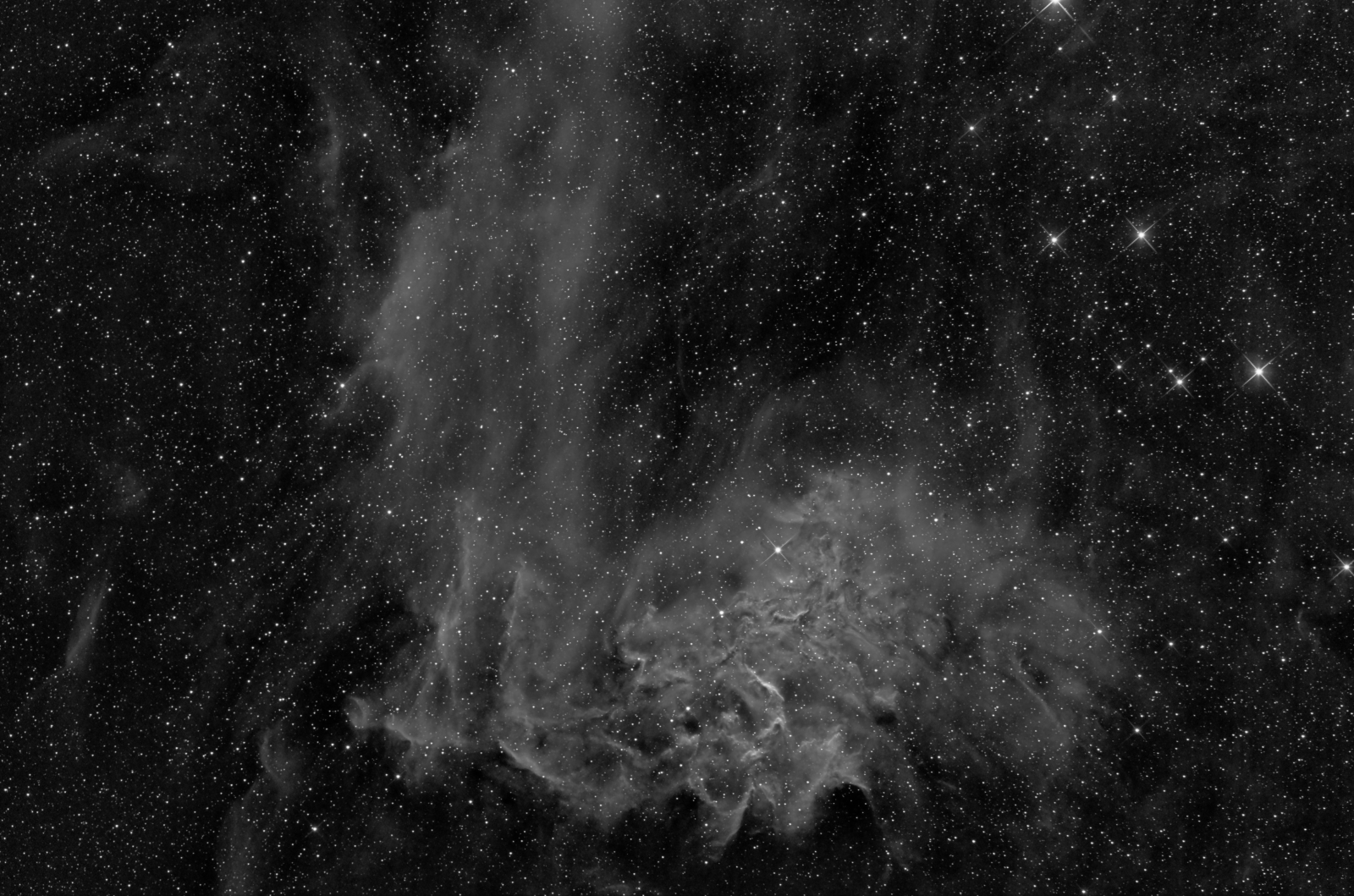 flaming star nebula IC405