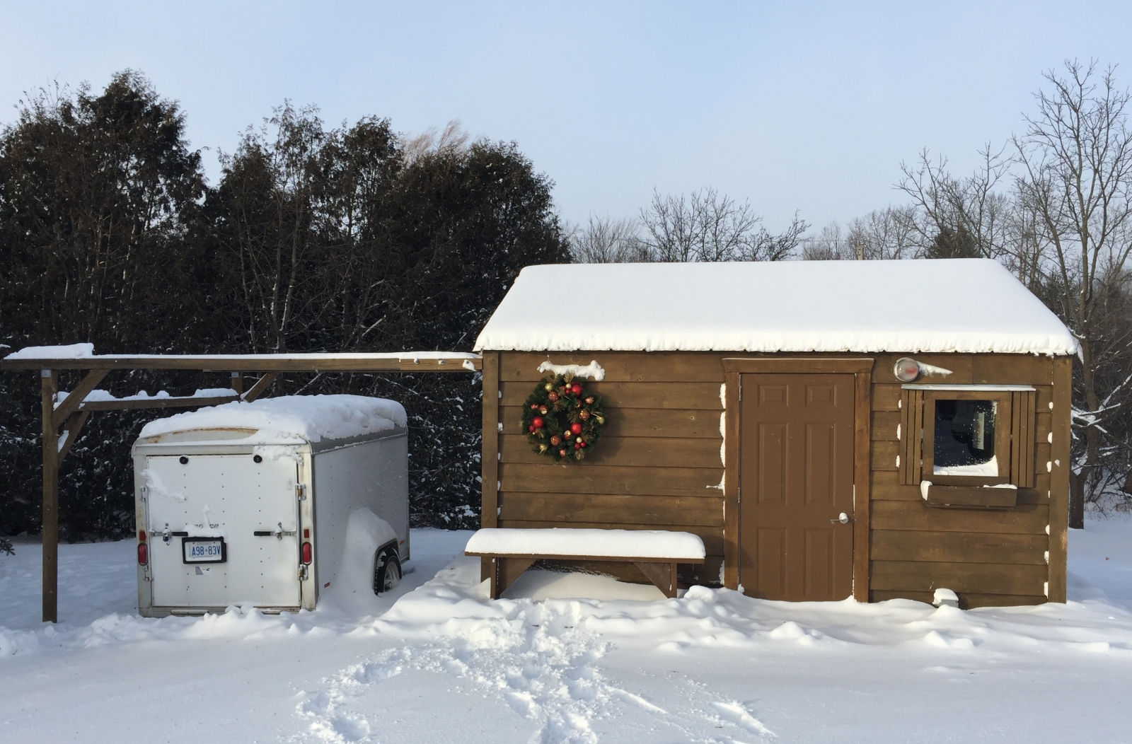 Doghouse in Winter