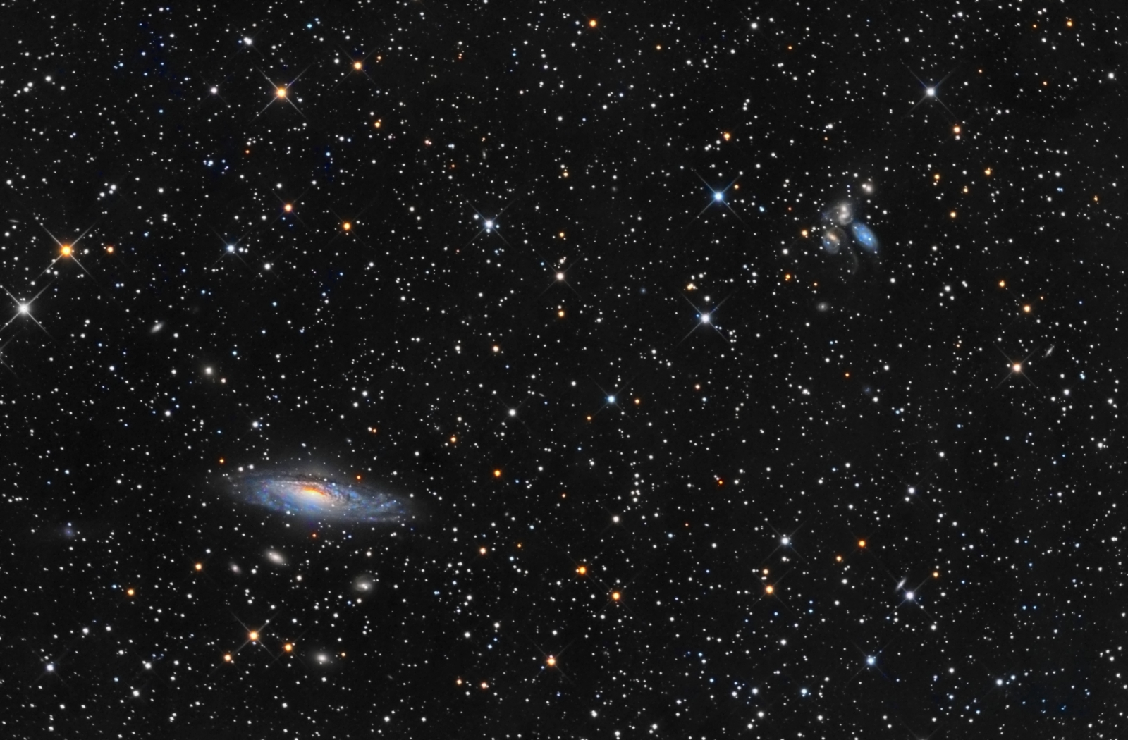 NGC7331 and Stephan's Quintet