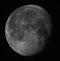 Gibbous Moon, Sept 1, 2015