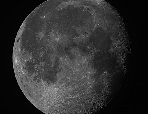 Gibbous Moon, September 1, 2015