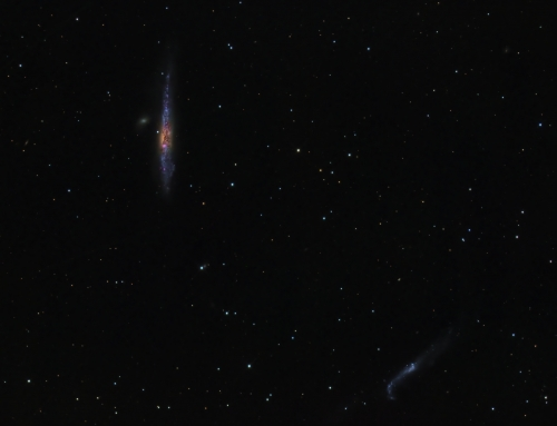 NGC4631 and NGC4656, The Whale and Hockey Stick Galaxies