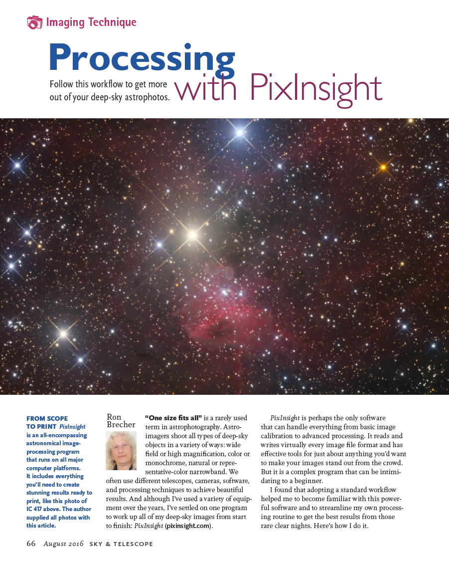 Processing With PixInsight – Sky & Telescope, August 2016