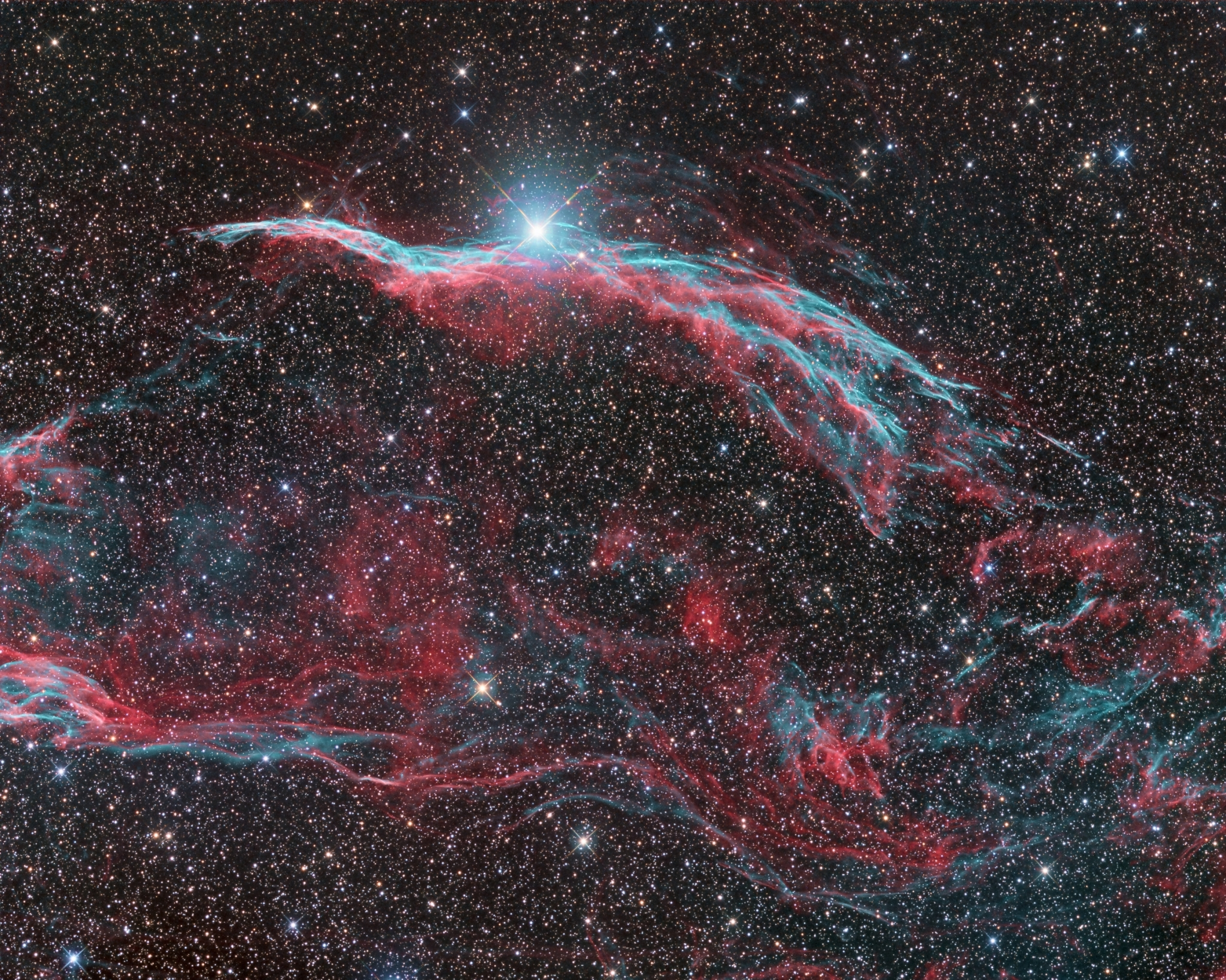 Full Moon Dec 2017 >> NGC6960, the Western Veil Nebula - Astrodoc: Astrophotography by Ron Brecher