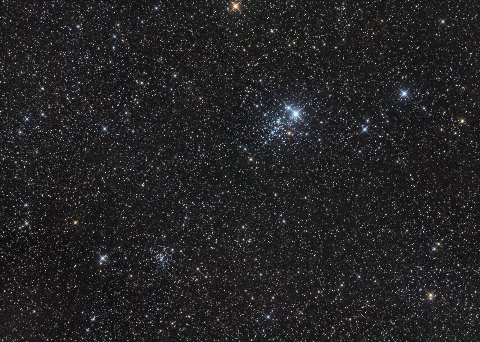NGC457 and NGC436