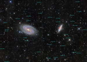 M81 and M82, annotated image
