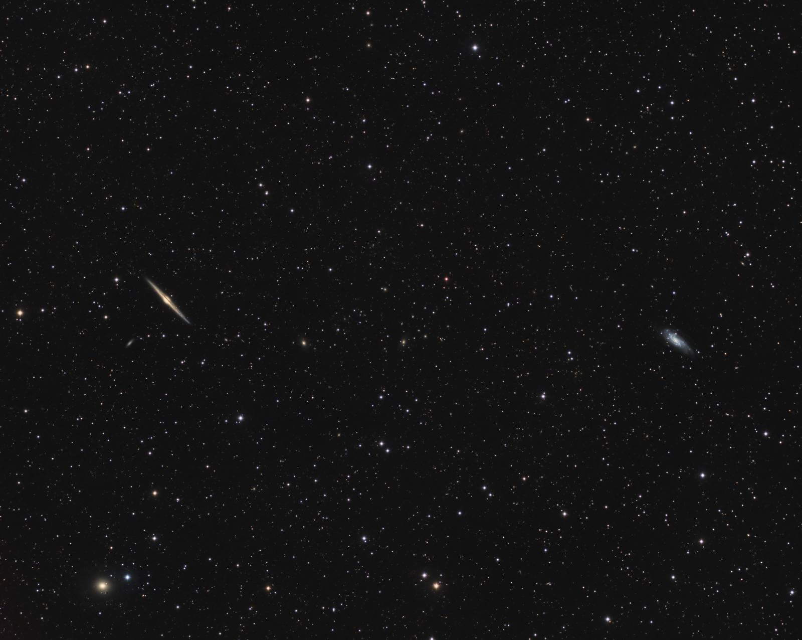NGC 4565 (left) and NGC 4559