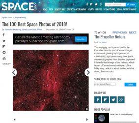 Space.com Best of 2018 - Propeller Nebula