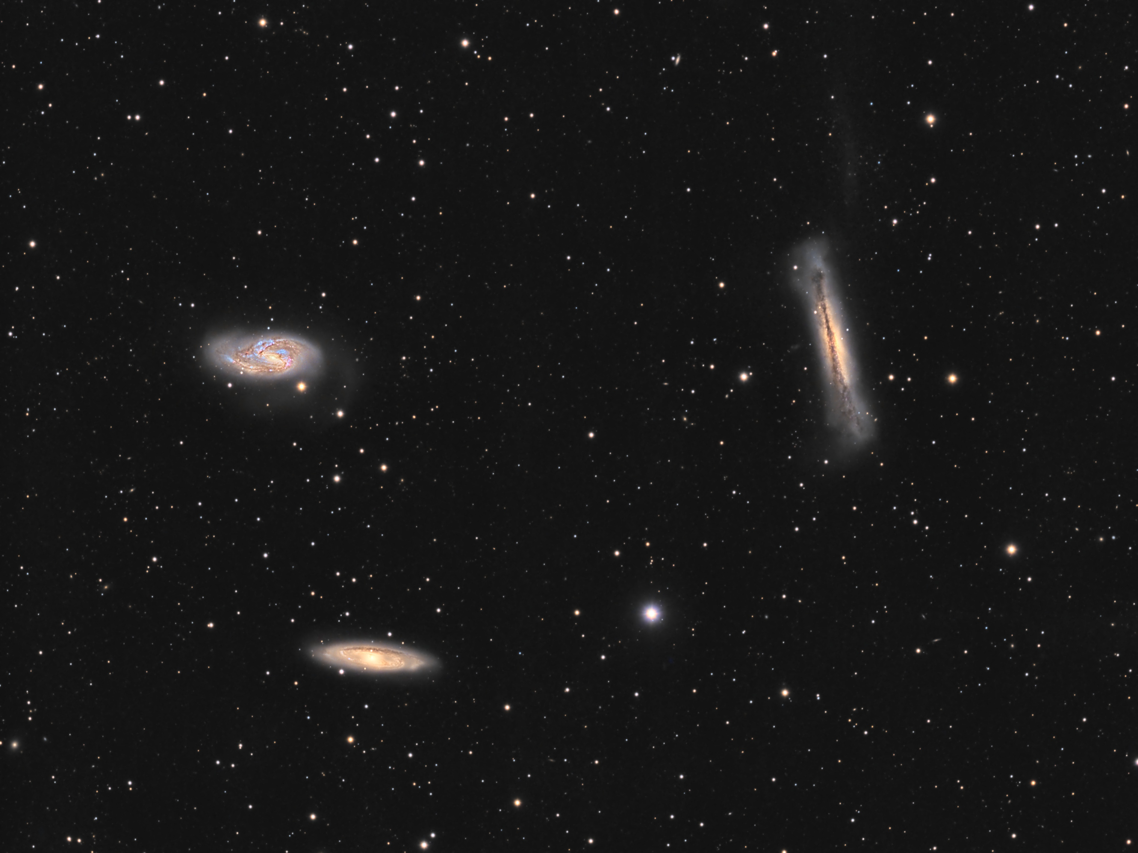 The Leo Trio – M65, M66 and NGC 3628