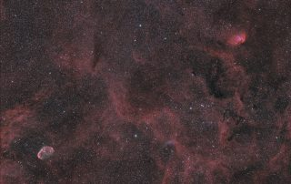 Crescent and Tulip Nebulae, Wide Field