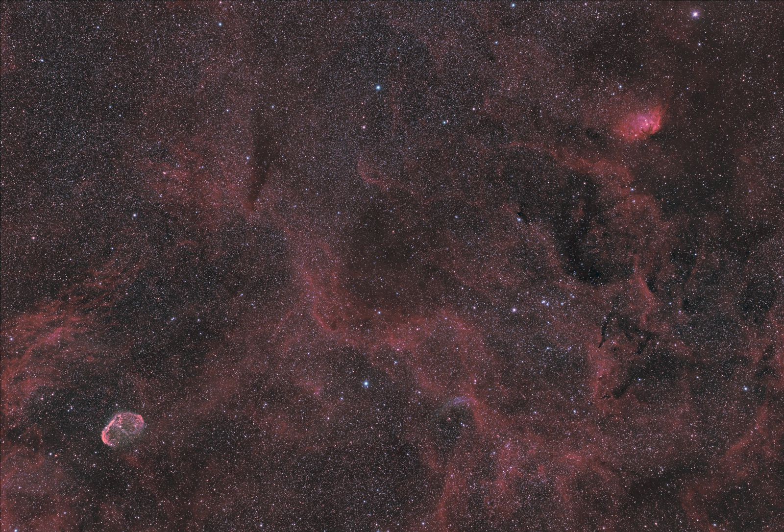Crescent Nebula to Tulip Nebula