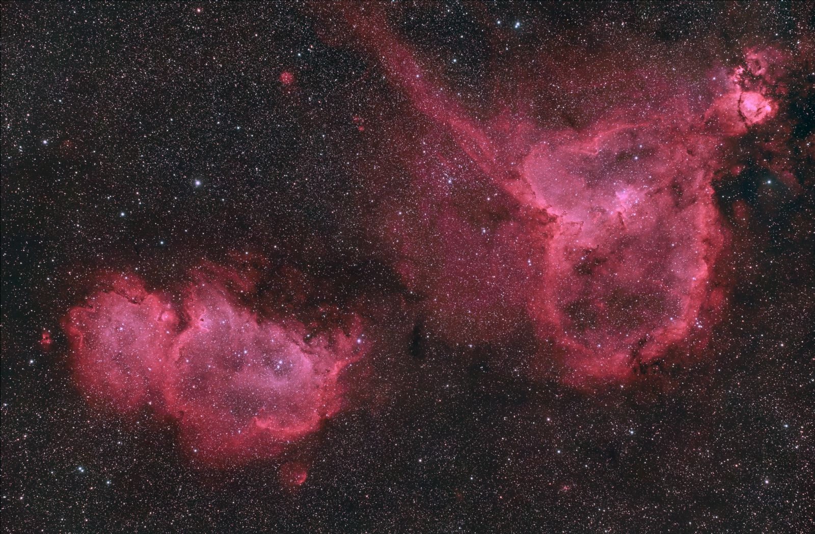 Heart Nebula and Soul Nebula