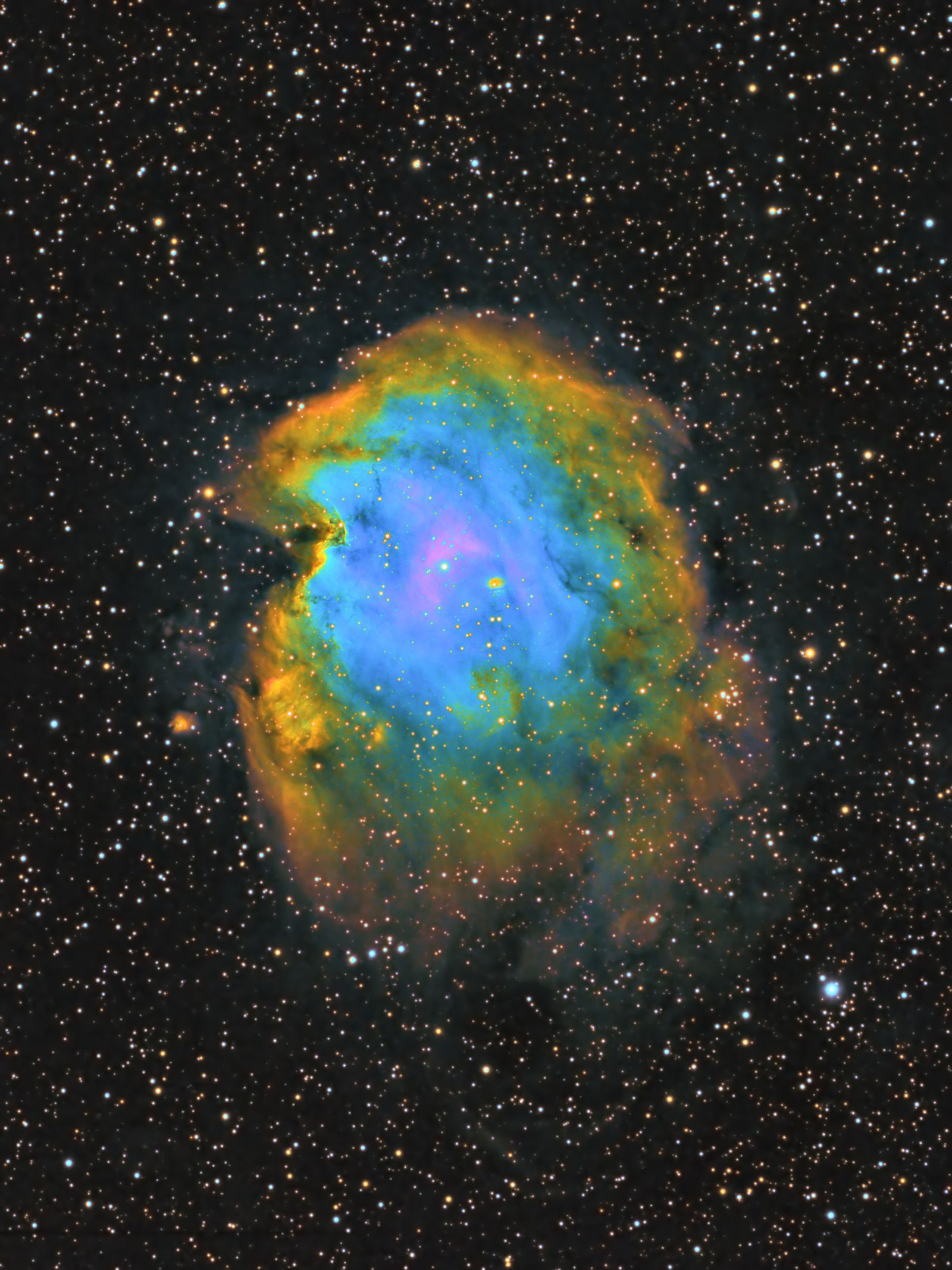 Monkey Head Nebula (Hubble Palette)
